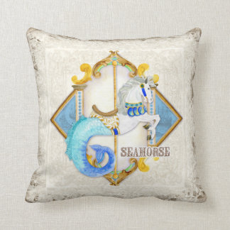 Baby Circus Fantasy Seahorse Carousel Vintage Cushion