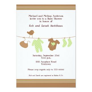 Baby Clothes Baby Shower Invitation