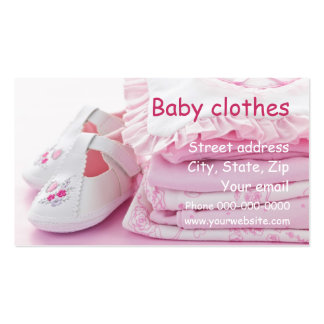 Baby clothes business card