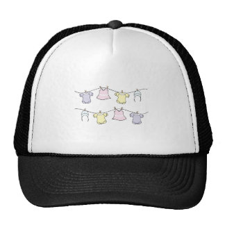 Baby Clothes Line Trucker Hat