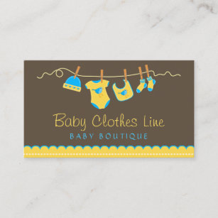 Clothing shop business cards zazzle uk baby clothes line store boutique business card reheart Choice Image