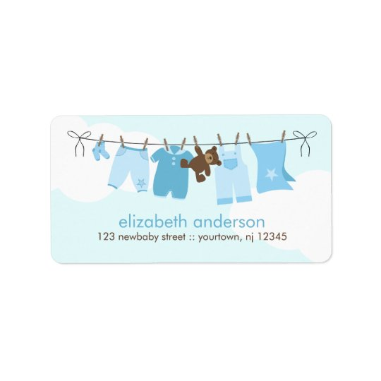 Baby Clothesline {blue} Label