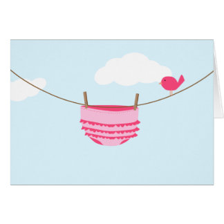 Baby Clothesline Card