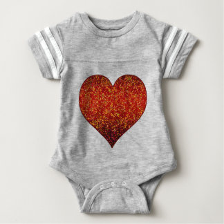 Baby Clothing Glitter Graphic Heart Red Baby Bodysuit