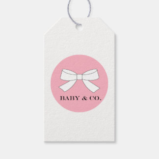 BABY & CO. Baby Tiffany Girl Party Pink Gift Tags