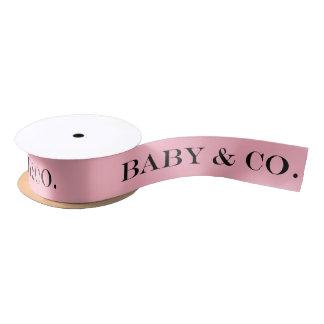 BABY & CO. Baby Tiffany Girl Party Satin Ribbon