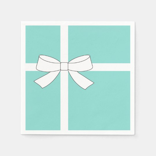 BABY & CO Blue And White Appetizer Napkins Paper Napkin
