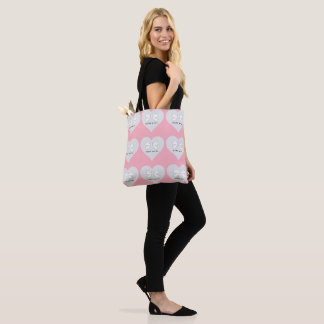 BABY & CO. Girl Pink Hearts Party Tote Bag