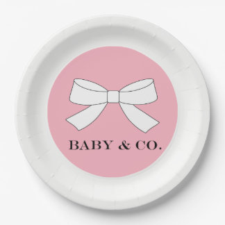 BABY & CO Pink Baby Girl Party Paper Plates