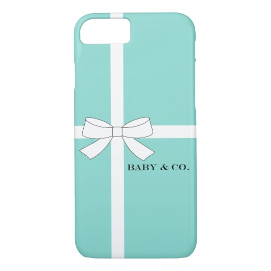 BABY & CO Shower Blue And White iPhone