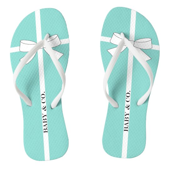 BABY & CO Shower Teal Blue And White