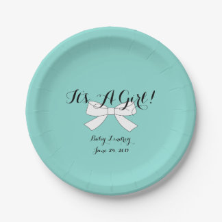 BABY & CO Teal Blue Baby Shower Party Plates
