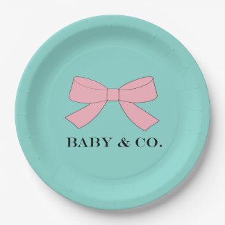 BABY & CO. Tiffany Baby Reveal Paper Plates