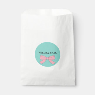 BABY & CO. Tiffany Baby Reveal Party Favor Bags Favour Bags