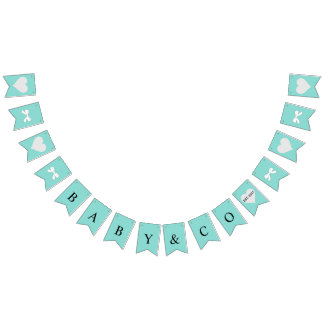 BABY & CO. Tiffany Blue Party Bunting Banner