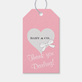 BABY & CO. Tiffany Girl Party Thank You Gift Tags