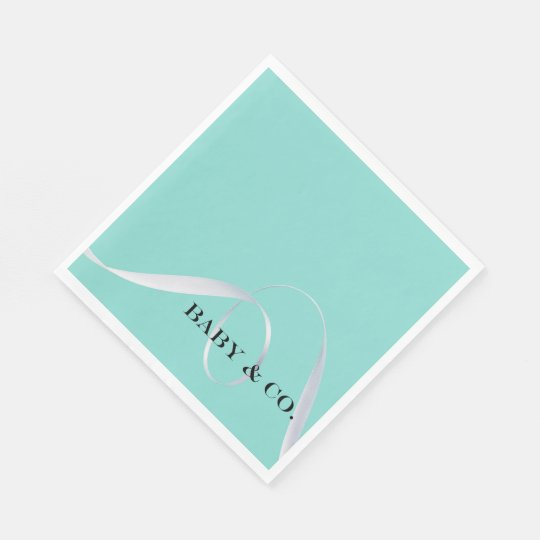 BABY & CO. Tiffany Ribbon Luncheon Napkins Disposable Napkins