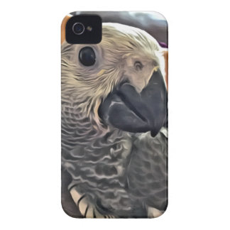 Baby Congo African Grey Parrot iPhone 4 Covers