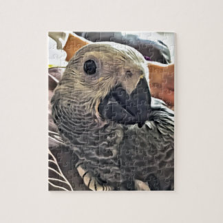 Baby Congo African Grey Parrot Jigsaw Puzzle