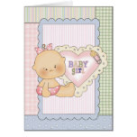 Baby Congratulations Card/Shower Invitation/Thank Greeting Card