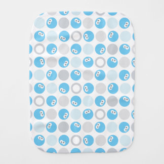 Baby Cookie Monster Circle Pattern Baby Burp Cloths