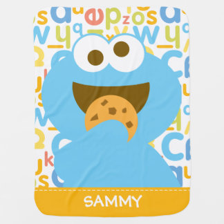 Baby Cookie Monster Eating | Add Your Name Buggy Blanket