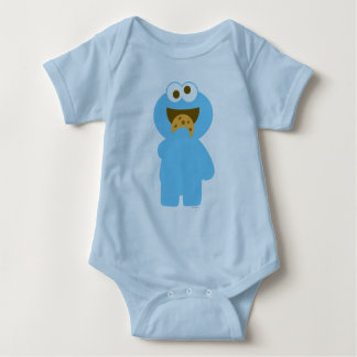Baby Cookie Monster Eating Baby Bodysuit