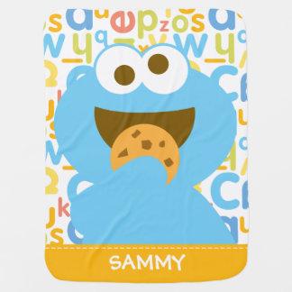 Baby Cookie Monster Eating Buggy Blanket