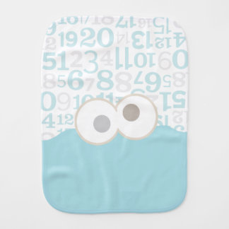 Baby Cookie Monster Face Baby Burp Cloth