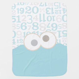 Baby Cookie Monster Face Buggy Blankets