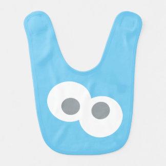 Baby Cookie Monster Face Shape Pattern Bib