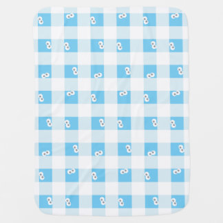 Baby Cookie Monster Plaid Pattern Baby Blanket