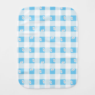 Baby Cookie Monster Plaid Pattern Burp Cloth