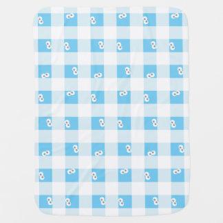 Baby Cookie Monster Plaid Pattern Pramblankets