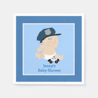 Baby Cop Police Officer Custom Napkin Disposable Napkins