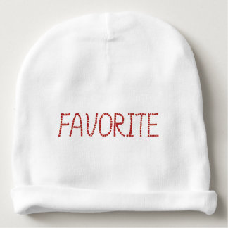 Baby cotton beanie with lettering 'favorite' baby beanie