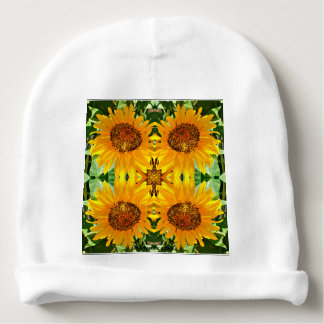 Baby Cotton Sunflower Beanie Baby Beanie