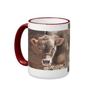 Baby Cow - Brown Baby Calf Close Up Face Mug