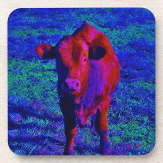Baby Cow Purple grass Coaster