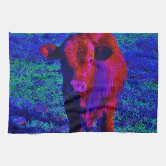 Baby Cow Purple grass Towel