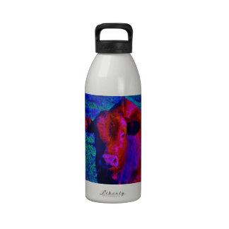 Baby Cow Purple grass Reusable Water Bottles
