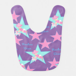 Baby Cowgirl Rodeo Star Bibs