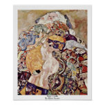 Baby Cradle By Klimt Gustav Posters