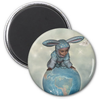 Baby crawl bunnies save the earth 1 magnet