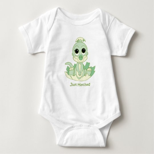 Baby Creeper, Just Hatched Green Baby Bodysuit