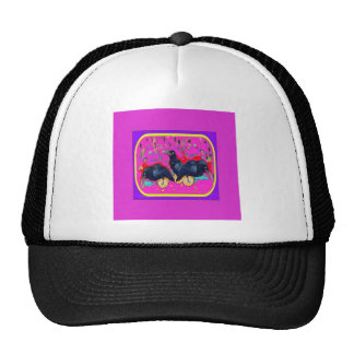 Baby Crows Whimsy purple by Sharles Hats