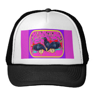Baby Crows Whimsy purple by Sharles Trucker Hat