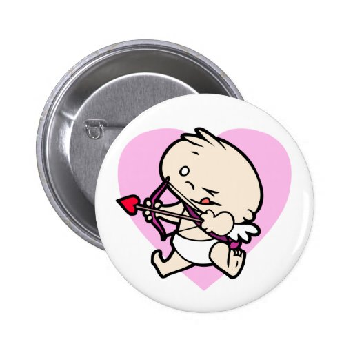 Baby Cupid Aiming For Love Buttons