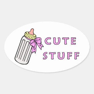 Baby Cute Stuff Oval Sticker