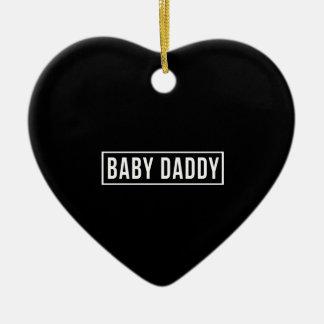 Baby Daddy Ceramic Heart Decoration